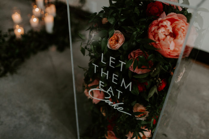 acrylic box over flowers for wedding decor